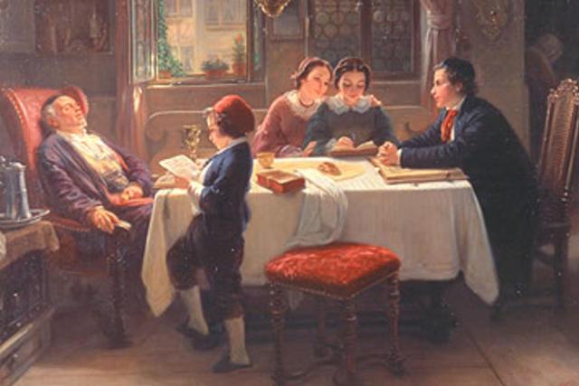 'Sabbath Afternoon' by Moritz Oppenheim