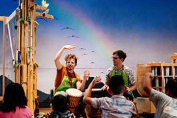 Educators and students in Noah's Ark
