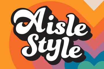 aisle style text