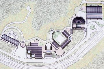 architectural drawing of Skirball campus
