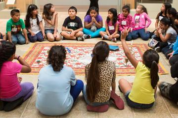 Kids sitting in circle