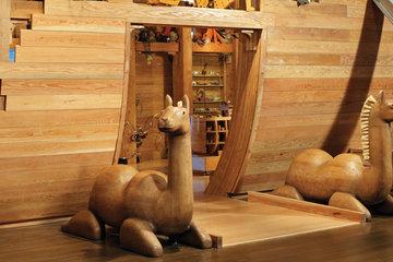 Detail of Noah's Ark facade photo
