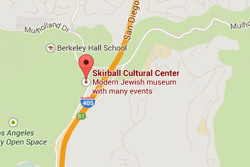 Map showing location of Skirball Cultural Center