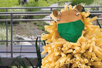Noah's Ark hedgehog with mask on