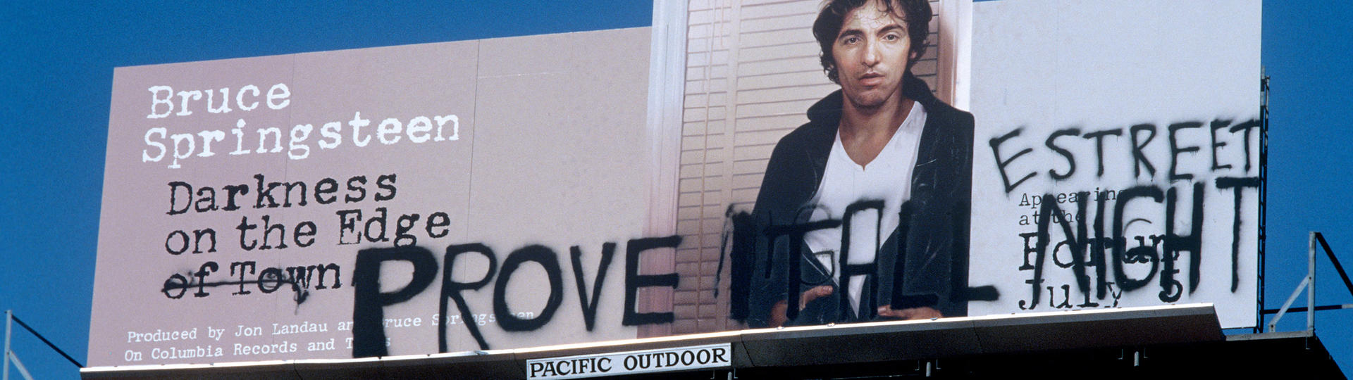 Billboard for Bruce Springsteen, Darkness on the Edge of Town