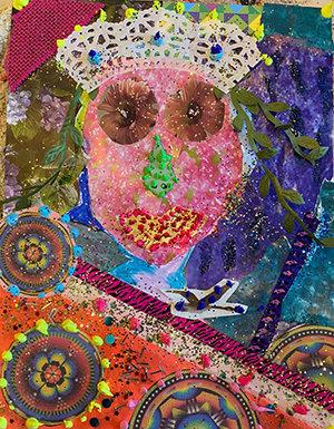 Leah self portrait collage